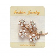 White Peal Gold Plated Fashion Brooches