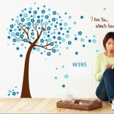 Wall sticker-Blue Tree