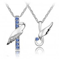 Angel Lovers Crystal Necklace
