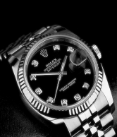 Rolex Black Datejust 36