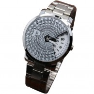 Paidu Turntable White Mesh Wrist Watch