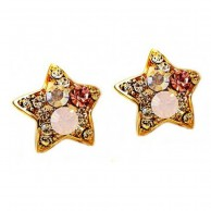 1 Pair of Crystal Rhinestone Earrings Fashion Jewellery E 006
