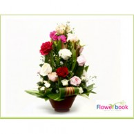 Mix Roses Flower Arrangement AN006