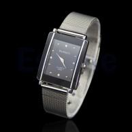WoMaGe Men's Silver Steel Elegant Wrist Watch