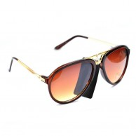 Classic Brown Sunglasses For Men With Pouch
