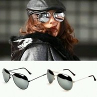 Hot New Unisex Retro Vintage Mirrored Lens Sunglasses