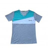 Multi Color V Collar T Shirt