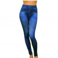 Women's Blue Denim Jeans BK24J