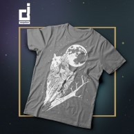 owl tshirt   light grey