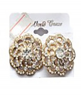 Rose Gold Plated Pinnately Flower Design Earrings