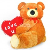 XXL Teddy with love heart soft toy