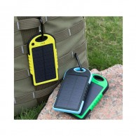 5000 mAh Dual USB Solar Power Bank with LED Light