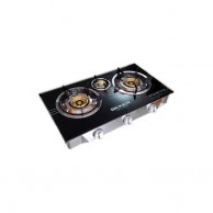 BEKER Three Burner Glass Top Gas Cooker BK701S