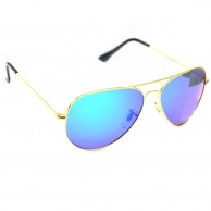 Multi Color Aviator Polarized Sunglasses For Men With Pouch
