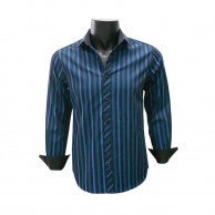 Men's Shirt Black With Blue CPSF0032LS64