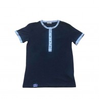 Black Round Collar T Shirt