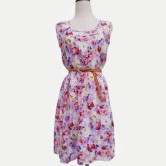 Exclusive Spring Floral Sleeveless Dress