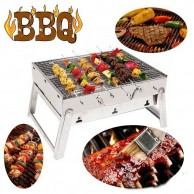 Portable Stainless Steel Charcoal BBQ Grill