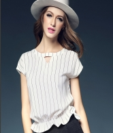 Short Sleeve Fringe Top CIPL3101