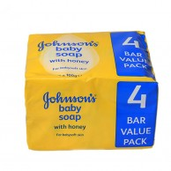 Pack of 4 Johnsons Baby Soap with Honey