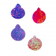 10 pieces Pack of glitter spiral Designed Multi Color Christmas Decoration Balls Stickers