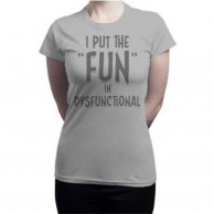 Women's Round Neck Grey T Shirt