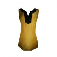 Women's Yellow Sleevless Blouse