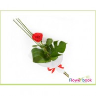 Single Red Roses Sheaf RM003