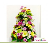 Mix colour chrysanthemum flower arrangement TH002