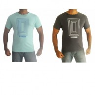 Pack of 2 Tshirts X version Blue Green