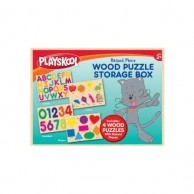 Boxed Set Of Raised Wood Puzzles 11087