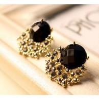 Women Lady Crystal Rhinestone Ear Stud