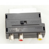 SCART Plug to RCA Sockets Adapter