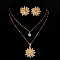 Gold Plated Crystal Jewelry Set SHS1505