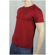 Men's Maroon Crew Neck T Shirt