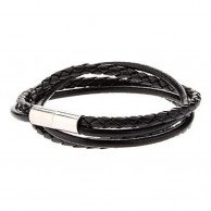 Double skin Leather Rope Loopy Bracelet