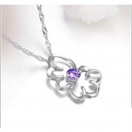 Silver Plated Flower Necklace