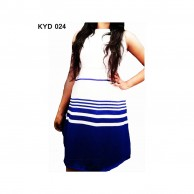 Women's Blue Striped Dress KYD24
