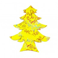 Pack Of 10 Yellow Designed Christmas Decoration Tree Stickers