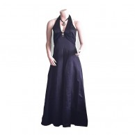 Black Silver Ring Long Frock