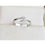 Silver Plated Heart Ring R 031