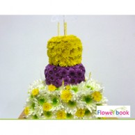 Cake Shape Chryshanthimum Flower Arrangement BD024