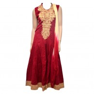 Ladies Fashion Cotton Red Casual Wear Shalwar
