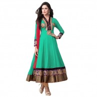 Embroidered Green Anarkali Suit 5003