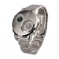 V6 Super Speed Men's Silver Dual Dial Wrist Watch