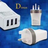 Dimax 3 Port USB Travel Adapter