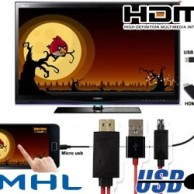 MicroUSB to HDMI TV Cable with USB Charging