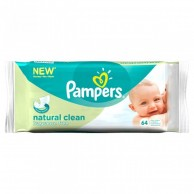 Pampers Natural Clean Refill Fragrance Free 56 Wipes