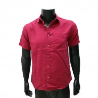 Men's Solid Shirt Red CCF0099SS205