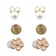 Flower And Bow Stud Set ERGFLB